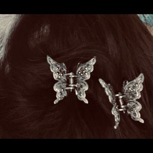 Swarovski Butterflies 🦋 🦋hair clips✨✨